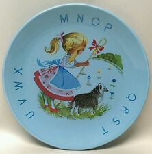"Vtg. James Kent Old Foley England 7"" LITTLE BO PEEP children's BLUE plate"