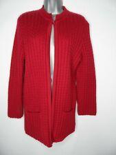 Vintage St Michael M&S Cardigan SIze 12 Bust 34in Burgundy Knit Pockets