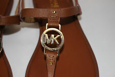 NIB MICHAEL KORS Size 5.5 Womens Luggage Saffiano Leather SONDRA THONG MK Sandal