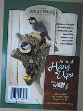 WALL COAT HAT JACKET HOOK HANG UP Chickadees Birds Wild Wings Animal HOMECabin