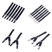 Adjustable Elastic Garter Straps Stockings Corset Suspender Belt Metal Clips Set
