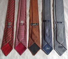 Lot of Hermes Brioni Mens 100% Silk Ties