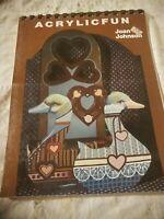 ACRYLIC FUN Decorative Painting Book Joan Johnson