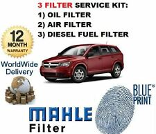 FOR DODGE JOURNEY 2.0DT 6/2008-> SERVICE KIT OIL AIR FUEL  FILTER KIT
