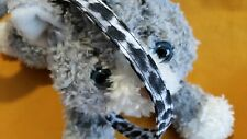 Cat Collar Fabric Handmade - Snow Leopard . Wild Meow