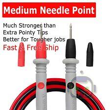 Fluke Compatible Hard Point Test Leads Set for Multimeter Meter Probes USA SHIP