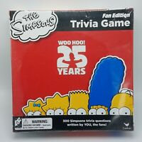 THE SIMPSONS Trivia Game Fan Edition 25 Years Board Game Sealed NEW FREE SHIP!