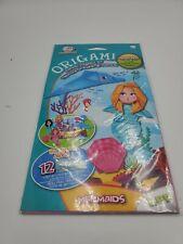 New CraZart Origami 12 sheet paper folding kit Mermaids & Friends Stocking Stuff