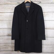 Calvin Klein Wool & Cashmere Dark Gray Coat Men's Size 40S Overcoat 40 Short