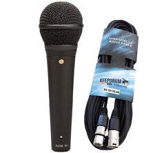 Rode M1 Gesangsmikrofon + Keepdrum Mikrofon-Kabel 6m XLR