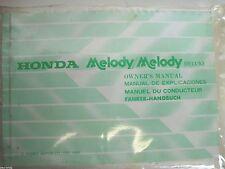 Honda Melodía Melodía De Lujo Clásico Owners Manual 36GE8600