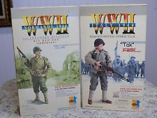 Rare Lot of 2 DRAGON WW2 Action Figures in Box Tak 442nd 70045 Dave 1st ID 70021
