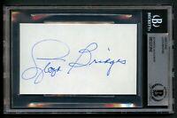 Lloyd Bridges (d1998) signed autograph 3x5 index card Actor Airplane! BAS Slab