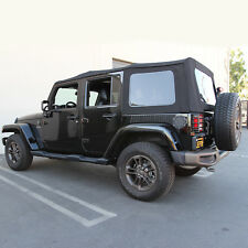 Jeep Wrangler 4DR JK Soft Top, 2010-17, Press Polish Windows, Black Canvas