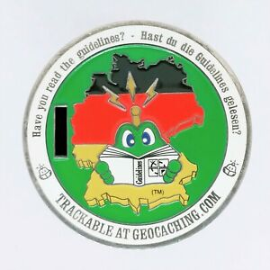 2008 German Reviewer (only) Geocoin - Polished Silver RO