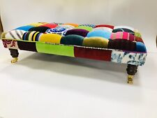 REDUCED Brand New Designer Manhattan Patchwork Footstool Stunning