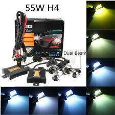 55W H4 HID Hi/Lo Beam Xenon  Conversion Ballast Kit Light Bulbs DC12V L