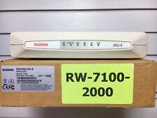 Radwin IDU-E 2xFE - RW-7100-2000 - Model 7100 With 2 Ethernet Interfaces