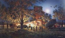 "Terry Redlin ""Bountiful Harvest"" Farm  Art Print With COA 24"" x 14"""