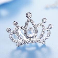 IC- JP_ HX- Kids Girls Rhinestone Princess Crown Hair Comb Hairpin Birthday Part