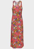 Womens UK Jersey Midi Maxi Long Dress Boho Summer Beach Floral Size 8 10 12 14