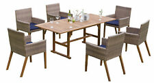 Synthetic Rattan Garden Furniture Set 13 Piece 6 Chair 1 Table FSC 6 Pads