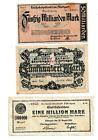 Reichsbanknoten 3 Scheine. Los 1582. schoeniger-notgeld