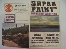 Studio-Photo - SUPPER PRINT for a better color print - Pochette Négatif