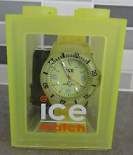 ICE WATCH YELLOW WITH BLACK MARKINGS AND JELLY STRAP BOXED