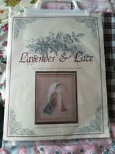 Lavender & Lace Guardian Angel counted cross stitch KIT