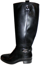 MICHAEL KORS Black FULTON Harness Tall Riding Boots Flat Bootie 8.5- 38.5