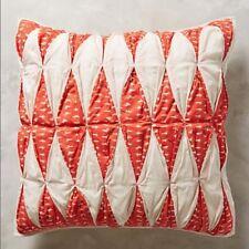 New Anthropologie Aurora Euro Sham, Linen , Cream.,orange