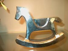 Design Ideas Silvertone Metal Rocking Hobby Horse Figurine or Paperweight