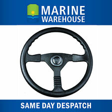 "Boat Marine Steering Wheel 3 Spoke 338mm 13.5"" - Moulded Nylon Grip 402102"