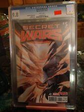 SECRET WARS #5--- ALEX ROSS VARIANT Marvel 1st Print!! Sept 2015!! Cgc 9.8