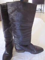 Valerie Stevens Brown Leather Boots