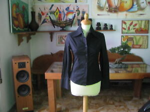 CAMICETTA  Donna  Miss Edith ,colore Nero  , taglia S  ,   Made in Italy