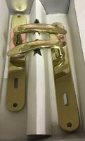 Maniglia x porta placca foro chiave 90 in metallo pressofuso ottone lucido 239
