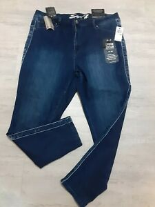 Seven 7 Limited Edition Ultra High Rise Skinny Legging Blue Jeans Women Size 18W