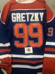 Wayne Gretzky Edmonton Oilers autographed authentic jersey PAAS