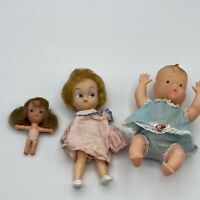 5 VINTAGE HONG KONG LOT, MINIATURE DOLLS