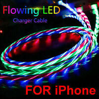 LED Light Visible Flow USB Charger Charging Cable Cord For iPhone 11 Pro Max USA