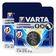 2 x Varta Lithium CR2032 batteries 3V Coin cell DL2032 BR2032 Blister EXP:2027