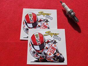 Pair Marco Simoncelli Super Sic stickers