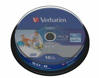 1x10 Verbatim BD-R Blu-Ray 25GB 1x6x Printable Cakebox 43804 NEU(world*) 004-685