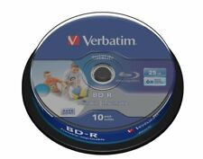 1x10 Verbatim BD-R Blu-ray 25 Go 1x6x printable Cakebox 43804 nouveau (World *) 004-685