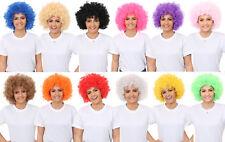 CURLY AFRO WIGS 12 COLOURS FUNKY 70S DISCO CLOWN UNISEX MEN LADIES FANCY DRESS