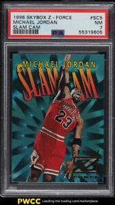 1996 Skybox Z-Force Slam Cam Michael Jordan #SC5 PSA 7 NRMT