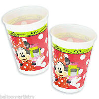 8 Disney Minnie Mouse Classic Red Polka Dots Party 200ml Plastic Cups