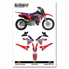 2013 - 2016  HONDA CRF 110 TLD Dirt Bike Graphics kit Motocross Graphics Decal